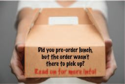 Ordering lunch? Be sure to complete your order!