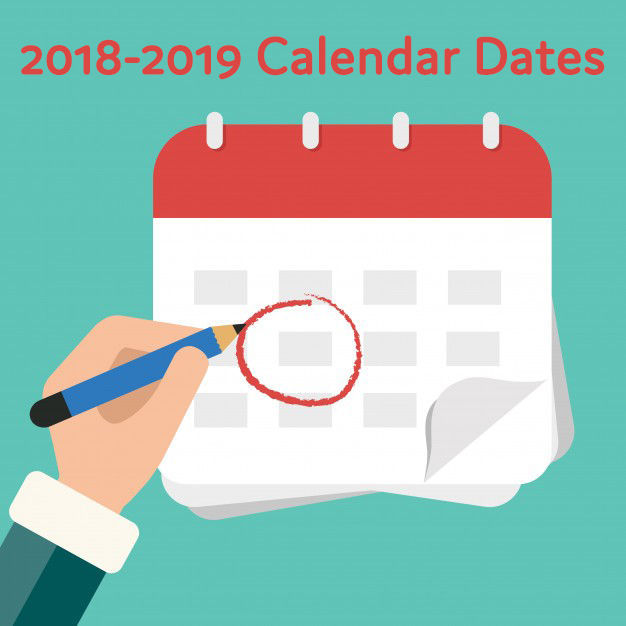 Important Dates for the 2018-2019 School Year