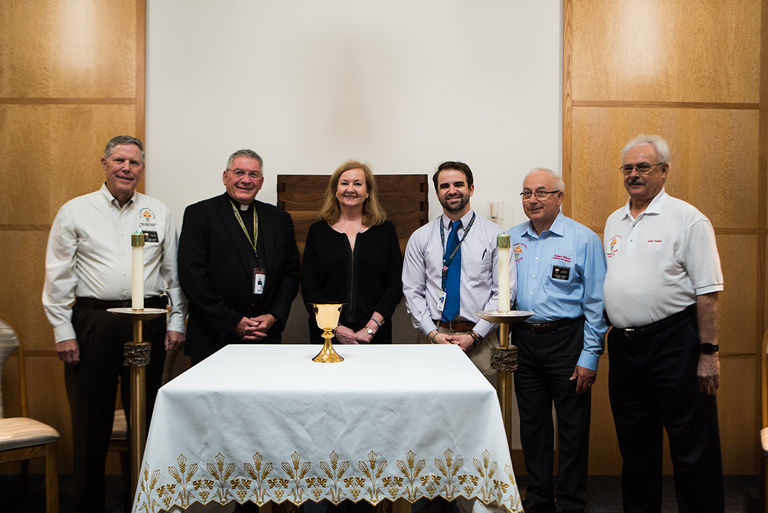 Bishop Dunne Presented With New Chalice