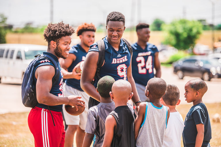 Falcon Football Hosts Camp at Youth World Dallas