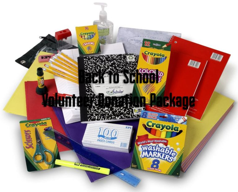​Back to School - Volunteer Donation Package
