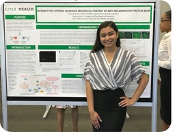 Amanda Garcia '17 Conducts Biomedical Research Studying Hypoxia as Treatment Against Inflammatory Diseases at UNT Health Science Center
